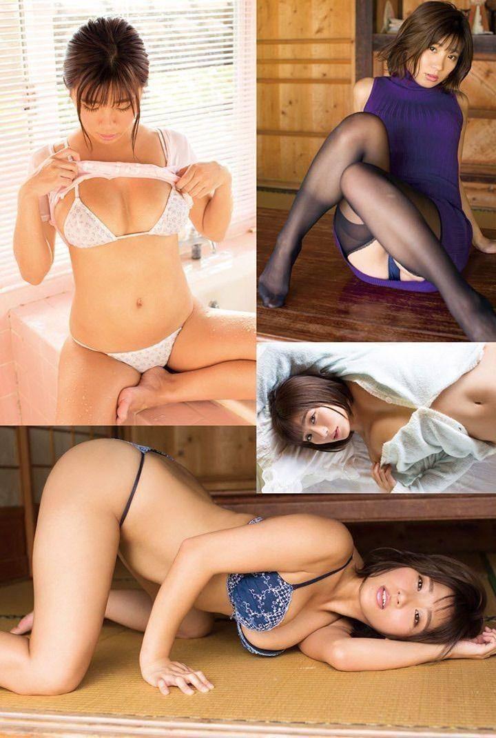 叶月彩出道6年推出第二本写真集,以半裸展示巨乳为武器